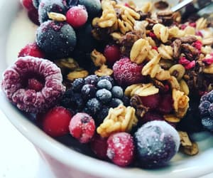 berries, blueberry, and bowl image