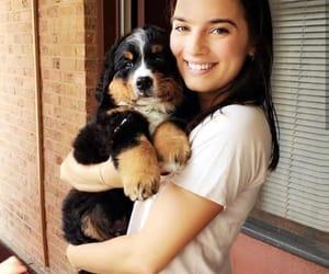 dog, natalie noel, and girl image