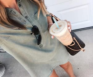 fashion, look, and coffee time image