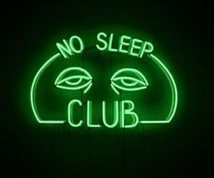 neon, sleep, and light image
