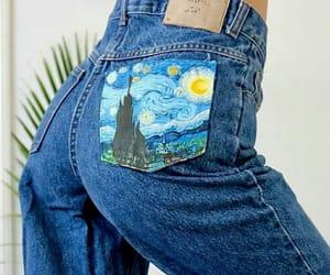 art, fashion, and starry night image
