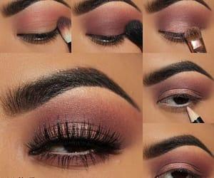 autumn, eye, and make up image