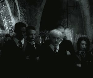 draco malfoy, harry potter, and magic image
