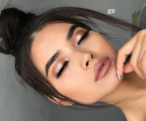 beuty, girl, and makeup image