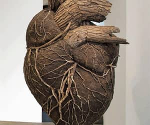 art, heart, and sculpture image