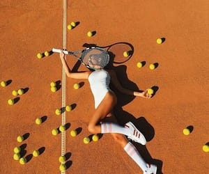 tennis, girl, and aesthetic image