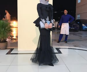 evening dress, hijab, and modesty image