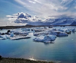 beautiful, glacier, and iceland image