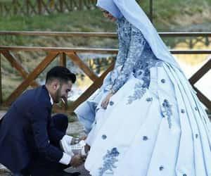 couple, muslim, and wedding image