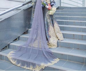 hijab, national, and wedding dress image