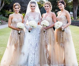 bridesmaids, party, and wedding image