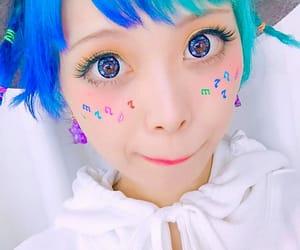 blue, eyes, and girl image