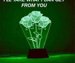 aesthetic, green, and Lyrics image