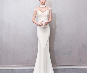 evening dress, long dress, and formal dress image