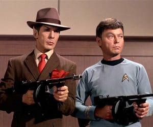 spock, star trek, and mccoy image
