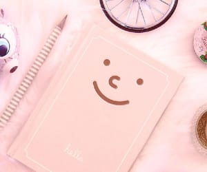 pink, notebook, and background image