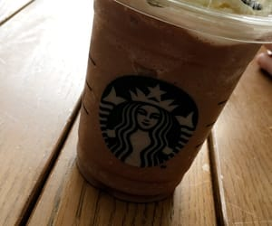 chocolate, frappuccino, and starbucks image