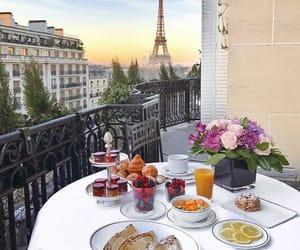 paris, breakfast, and summer image