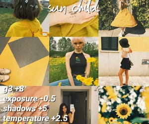 editing, photography, and yellow image