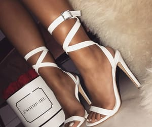 heels, fashion, and white image