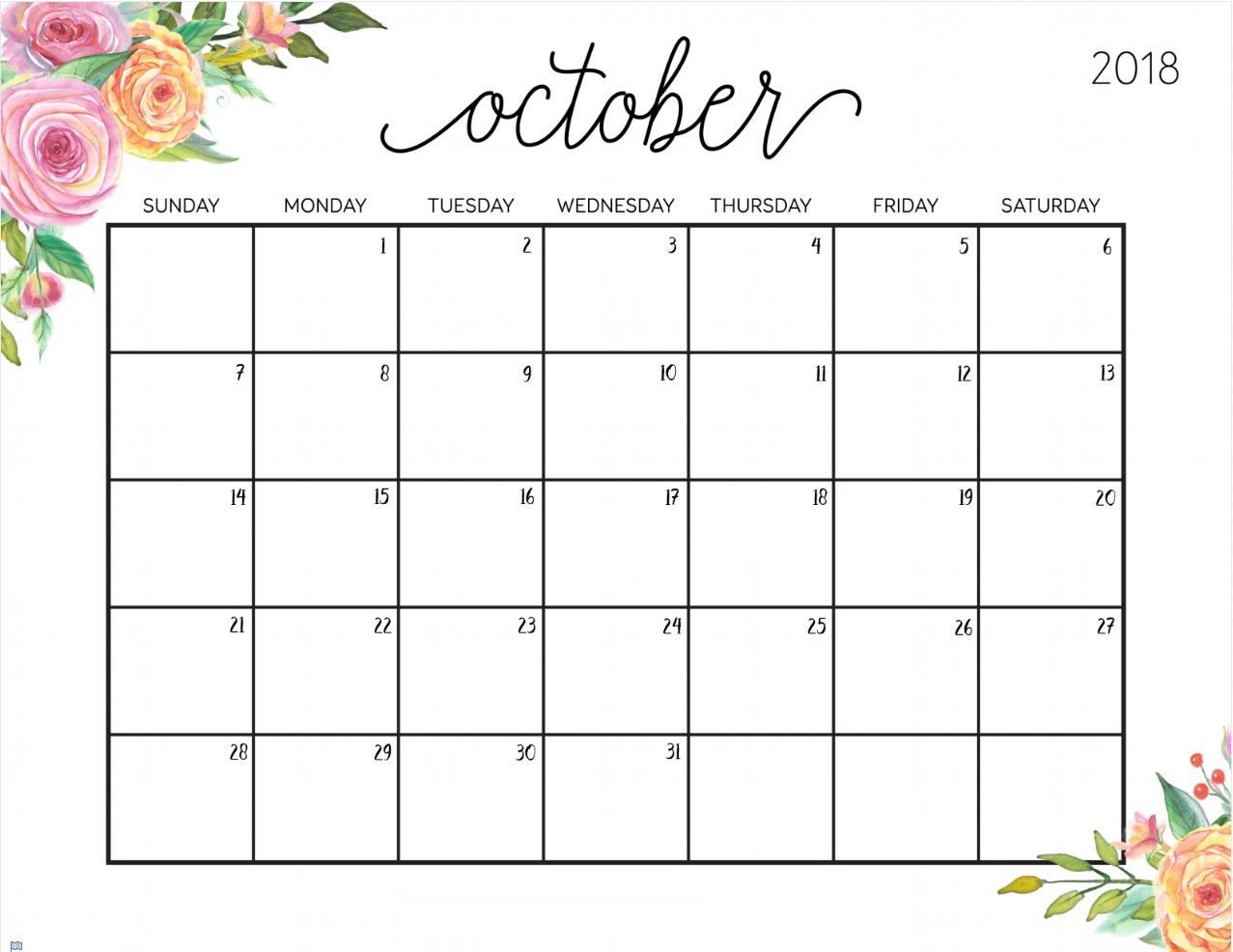 picture regarding October Printable Calendar named Editable and Printable Calendar Template upon We Center It
