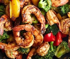 food, healthy, and seafood image