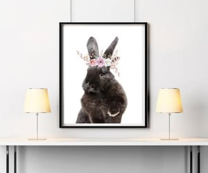 bunny, etsy, and floral image