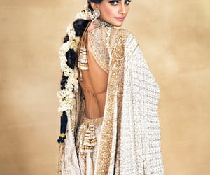 bollywood, hair, and saree image