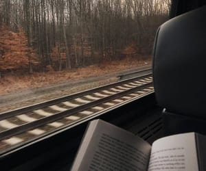 book, travel, and autumn image