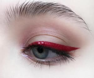 eye, red, and makeup image