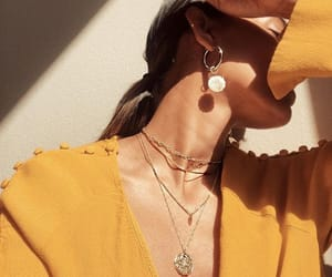 accessories, earings, and gold image