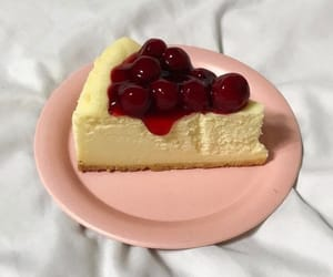 food, cake, and cheesecake image