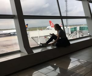 airport, amsterdam, and travelling image