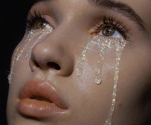 tears, cry, and glitter image