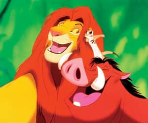 animated, movie, and lion king image