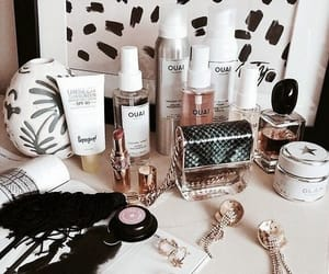 makeup, nails, and perfume image
