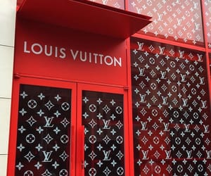 Louis Vuitton, red, and aesthetic image