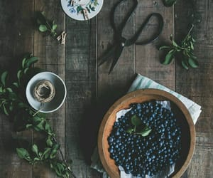 blueberries, leaves, and scissors image