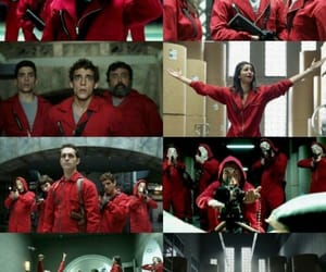 red, la casa de papel, and wallpaper image