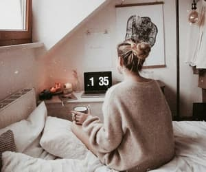 autumn, cozy, and bed image