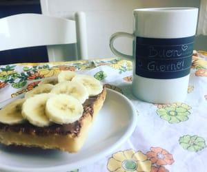banana, breakfast, and tea image