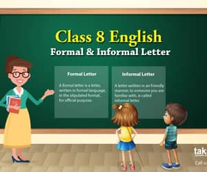 letter writing, class 8 english, and formal & informal letters image