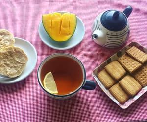 breakfast, chocolate, and tea image
