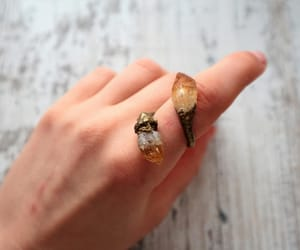crystals, ring, and witch image