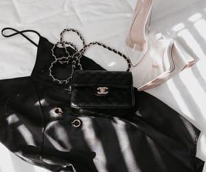 bag, chanel, and heels image