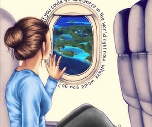 airplane, inspiration, and art image