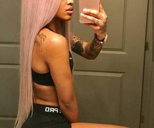 hair, Tattoos, and ann marie image