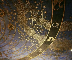 gold, stars, and zodiac image