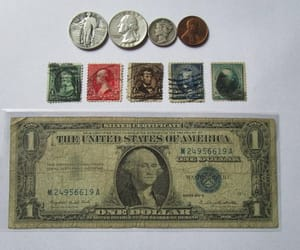 american collectible, washington silver, and coins stamps lot image