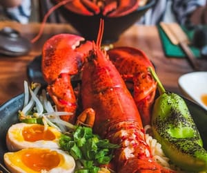 egg, food, and lobster image